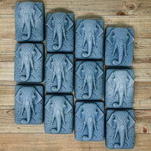 Blue Ganesha Elephant Soap
