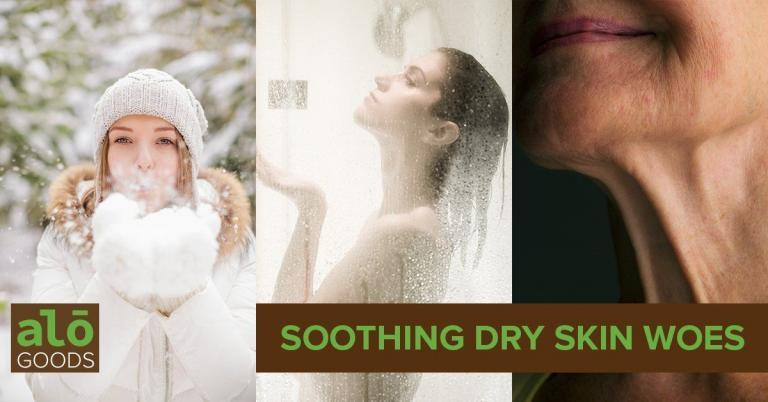Soothing dry skin with natural products
