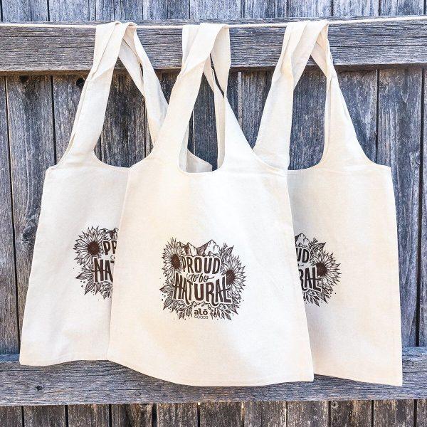 Natural Cotton Sling Bag 1