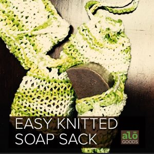 Free Knitted Soap Sack Pattern Square